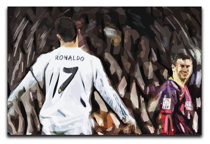 Ronaldo Vs Messi Canvas Print or Poster