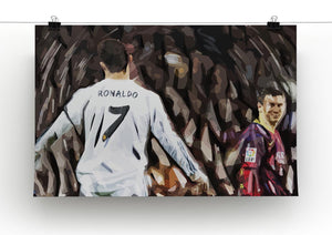 Ronaldo Vs Messi Print - Canvas Art Rocks - 2