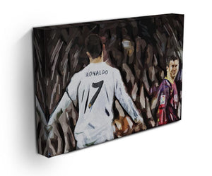 Ronaldo Vs Messi Print - Canvas Art Rocks - 3