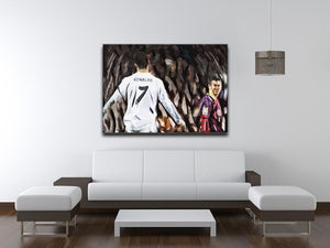 Ronaldo Vs Messi Print - Canvas Art Rocks - 4