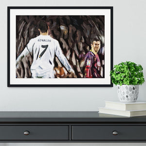 Ronaldo Vs Messi Framed Print - Canvas Art Rocks - 1