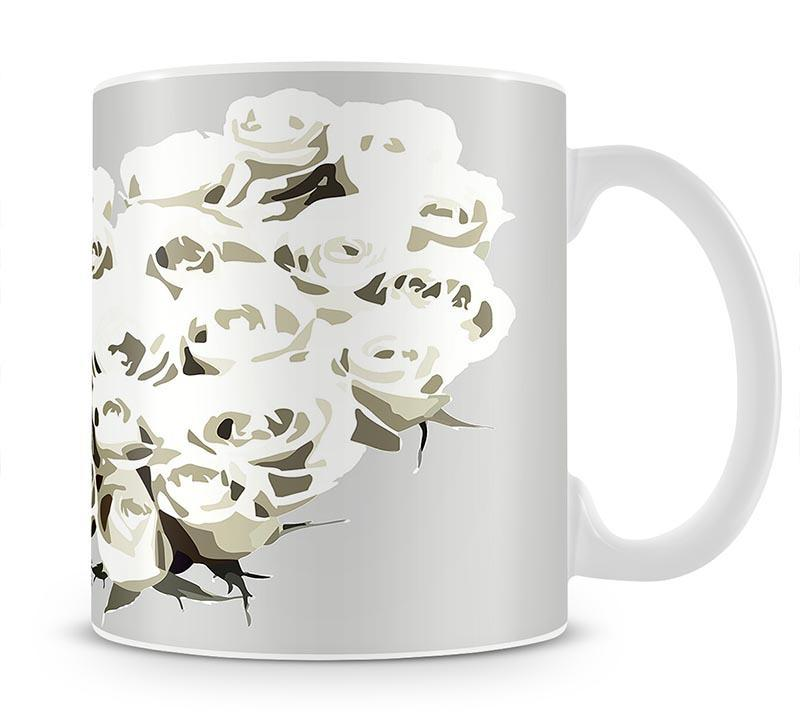 Rose-Cream-Brighter Mug - Canvas Art Rocks - 1