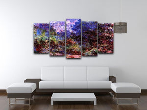Roses at the garden side of Monets house in Giverny by Monet 5 Split Panel Canvas - Canvas Art Rocks - 3
