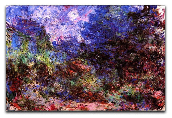 Roses at the garden side of Monets house in Giverny by Monet Canvas Print or Poster