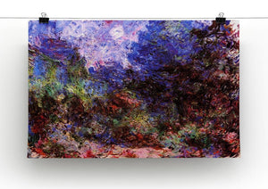 Roses at the garden side of Monets house in Giverny by Monet Canvas Print & Poster - Canvas Art Rocks - 2