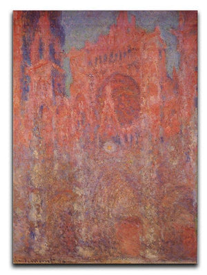 Rouen Cathedral Facade by Monet Canvas Print & Poster  - Canvas Art Rocks - 1
