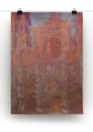 Rouen Cathedral Facade by Monet Canvas Print & Poster - Canvas Art Rocks - 2