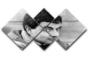 Rowan Atkinson 4 Square Multi Panel Canvas  - Canvas Art Rocks - 1