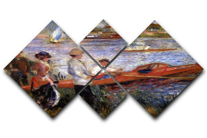 Rowers from Chatou by Renoir 4 Square Multi Panel Canvas  - Canvas Art Rocks - 1