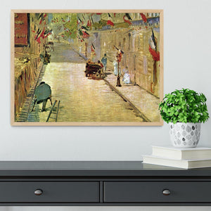 Rue Mosnier with Flags by Manet Framed Print - Canvas Art Rocks - 4