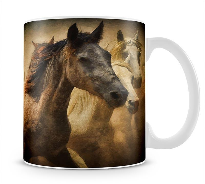 Running Horses Mug - Canvas Art Rocks - 1