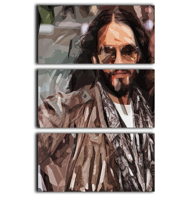 Russell Brand Pop Art 3 Split Panel Canvas Print - Canvas Art Rocks - 1