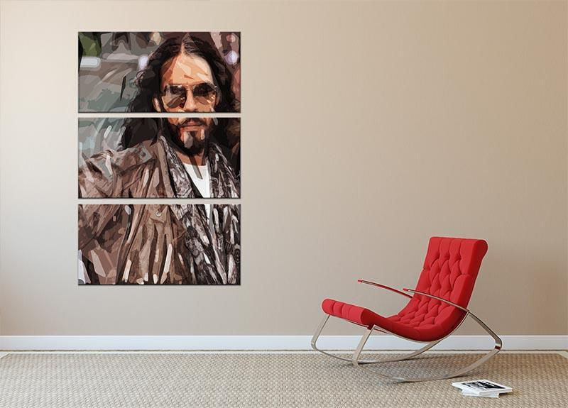Russell Brand Pop Art 3 Split Panel Canvas Print - Canvas Art Rocks - 2