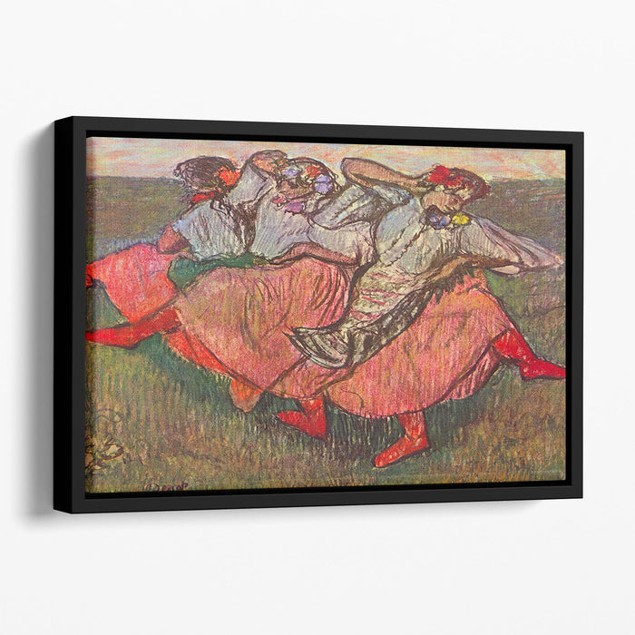 Russian Dancers by Degas Floating Framed Canvas