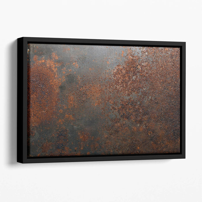Rusted metal background Floating Framed Canvas