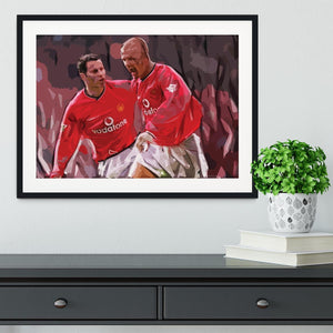 Ryan Giggs and David Beckham Framed Print - Canvas Art Rocks - 1