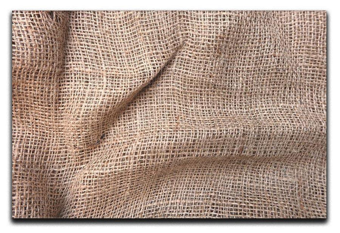 Sackcloth textured Canvas Print or Poster