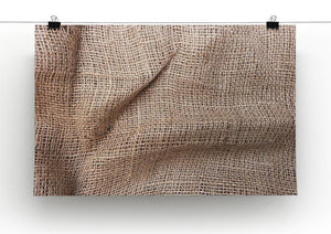 Sackcloth textured Canvas Print or Poster - Canvas Art Rocks - 2