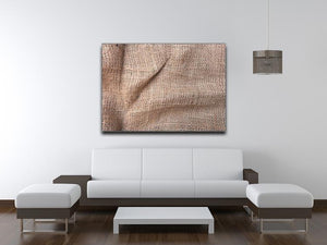 Sackcloth textured Canvas Print or Poster - Canvas Art Rocks - 4