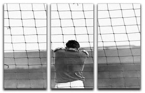 Sad Goalkeeper 3 Split Panel Canvas Print - Canvas Art Rocks - 1