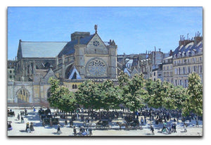 Saint Germain Auxerrois Paris 1867 by Monet Canvas Print & Poster  - Canvas Art Rocks - 1
