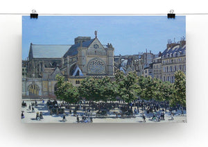 Saint Germain Auxerrois Paris 1867 by Monet Canvas Print & Poster - Canvas Art Rocks - 2