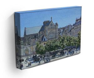 Saint Germain Auxerrois Paris 1867 by Monet Canvas Print & Poster - Canvas Art Rocks - 3