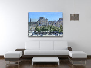 Saint Germain Auxerrois Paris 1867 by Monet Canvas Print & Poster - Canvas Art Rocks - 4