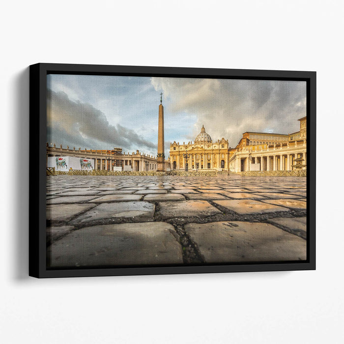 Saint Peter Basilica in the Morning Floating Framed Canvas