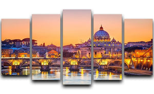 Saint Peter cathedral at night 5 Split Panel Canvas  - Canvas Art Rocks - 1