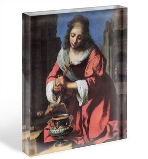 Saint Praxedis by Vermeer Acrylic Block - Canvas Art Rocks - 1