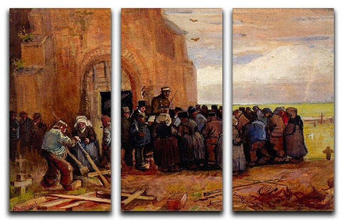 Sale of Building Scrap by Van Gogh 3 Split Panel Canvas Print