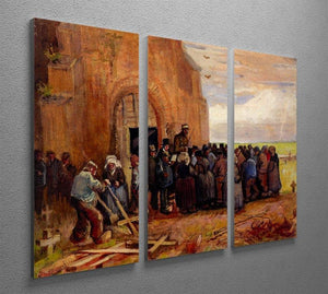 Sale of Building Scrap by Van Gogh 3 Split Panel Canvas Print - Canvas Art Rocks - 4