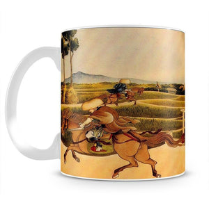 Samurai riding on horses by Hokusai Mug - Canvas Art Rocks - 2