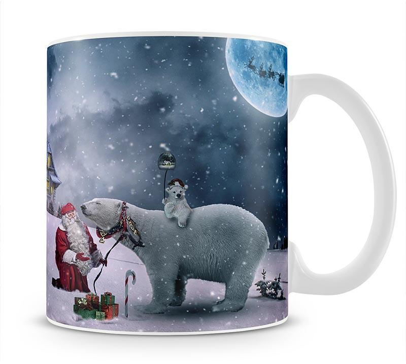 Santa And The Polar Bear Mug - Canvas Art Rocks - 1