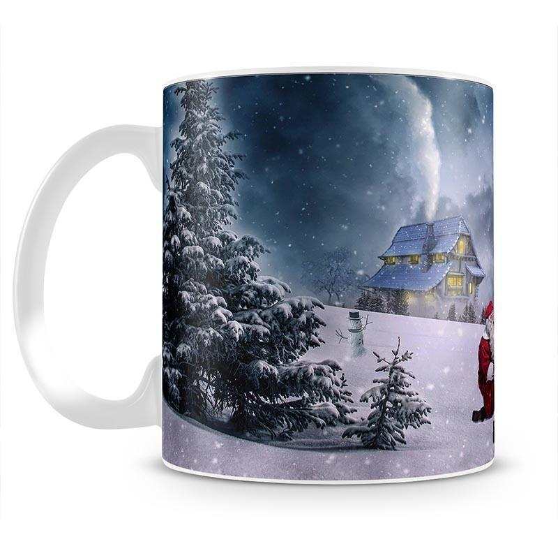 Santa And The Polar Bear Mug - Canvas Art Rocks - 2