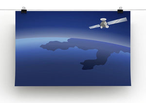 Satellite orbiting around the planet through the space Canvas Print or Poster - Canvas Art Rocks - 2