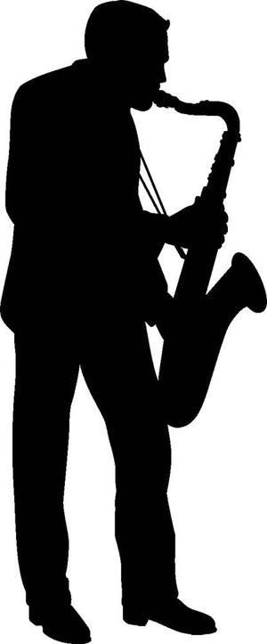 Saxophone Player Wall Decal - Canvas Art Rocks