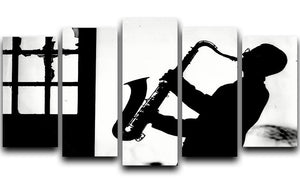 Saxophone player 5 Split Panel Canvas - Canvas Art Rocks - 1