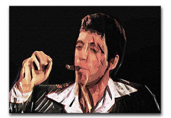 Scarface Smoking Cigar Canvas Print or Poster