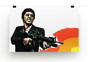 Scarface Say Hello to My Little Friend Print - Canvas Art Rocks - 2