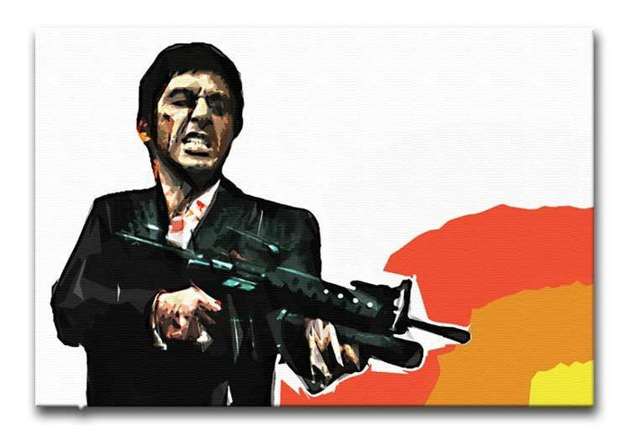 Scarface Say Hello to My Little Friend Canvas Print or Poster
