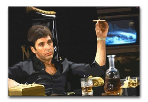 Scarface At His Desk With Cigar Print - Canvas Art Rocks - 1