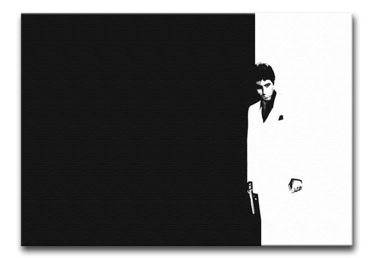 Scarface Black and White Print - Canvas Art Rocks - 1