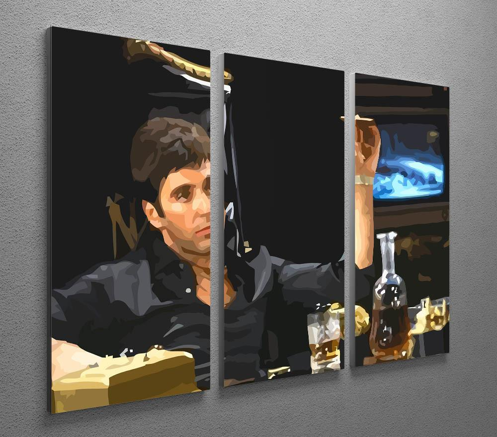 Scarface at desk 3 split panel canvas print canvas art rocks scarface at his desk with cigar 3 split panel canvas print canvas art rocks jeuxipadfo Images