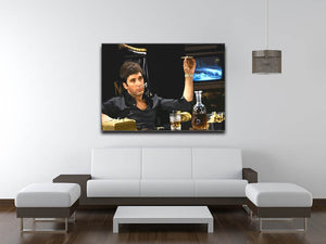 Scarface At His Desk With Cigar Canvas Print or Poster - Canvas Art Rocks