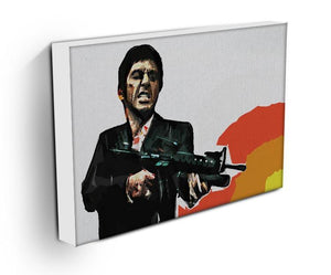 Scarface Say Hello to My Little Friend Canvas Print & Poster - Canvas Art Rocks