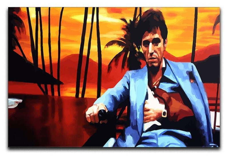 Scarface Sunset Canvas Print or Poster  - Canvas Art Rocks - 1