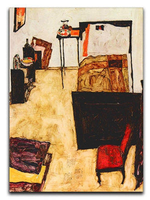 Schiele's living room in Neulengbach by Egon Schiele Canvas Print or Poster - Canvas Art Rocks - 1