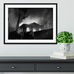 School ablaze Hatton Garden London Framed Print - Canvas Art Rocks - 1